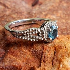 Blue Montana Sapphire Ring, sz5